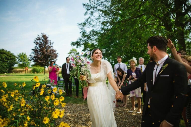 rookery farm wedding norfolk bride and groom