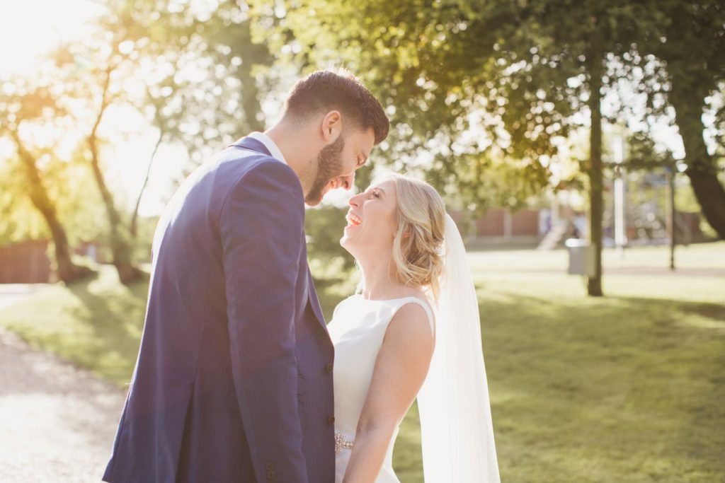 thursford garden pavilion bride and groom photos
