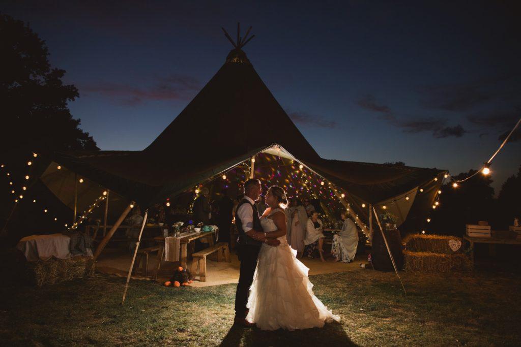 a tipi wedding in norfolk